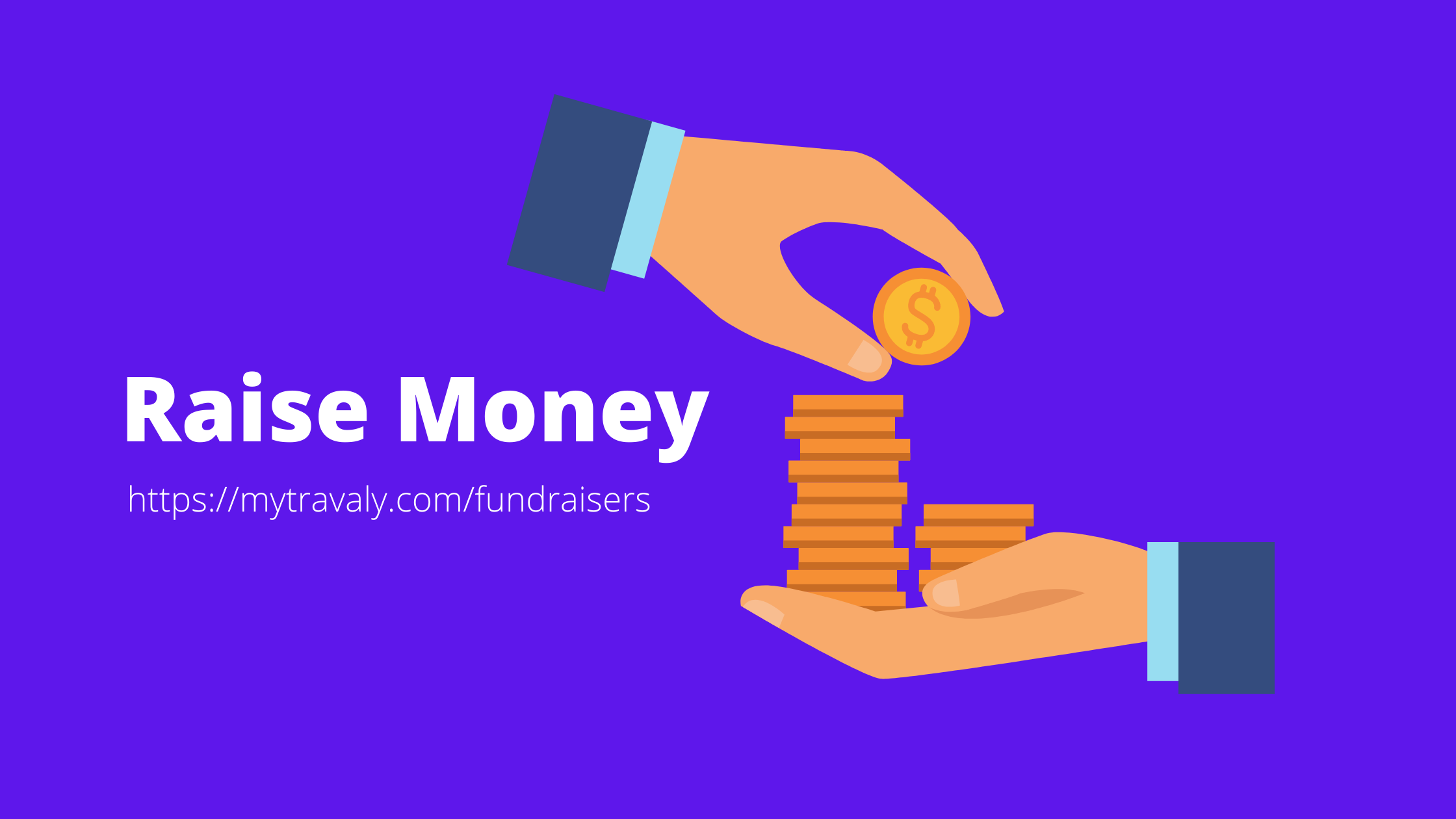How can an NGO raise fund using mytravaly's fundraiser